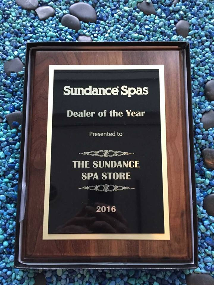 Hot Tub Award - Sundance Spas Dealer of the year