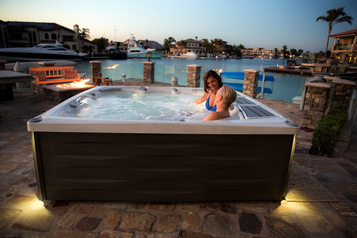 check out the select series hot tubs and their design and feast your eyes on the beautiful new series with new low profile design with jacuzzis exterior - Jacuzzis Exterior