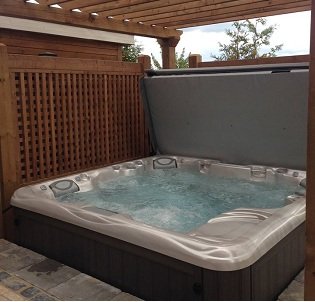 Terrace hot tub and spa installation 19