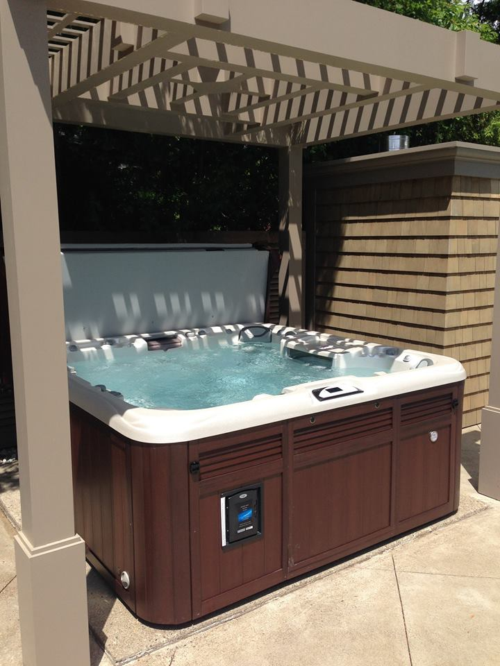 Terrace hot tub and spa installation 52