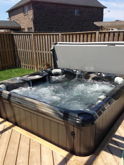 Suburb hot tub and spa installation 42