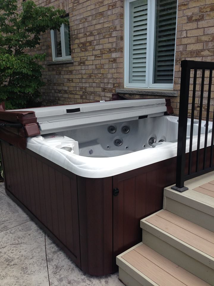 Outdoor hot tub and spa installation 41