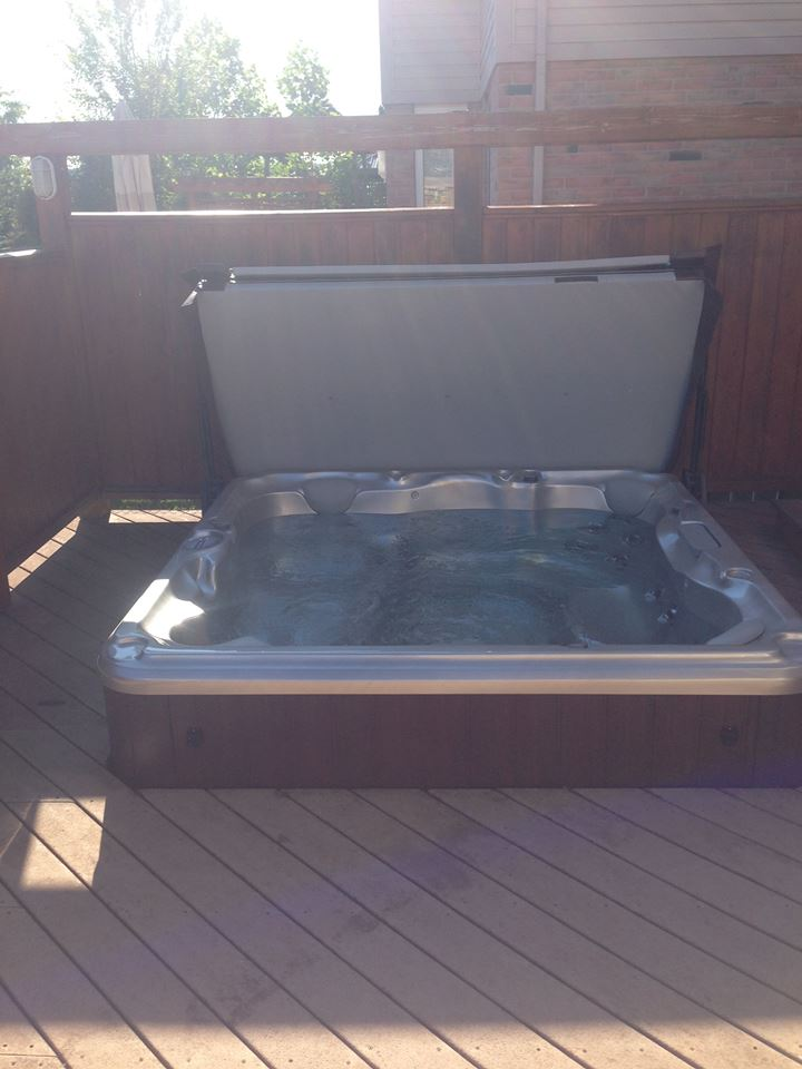 Summer hot tub and spa installation 37