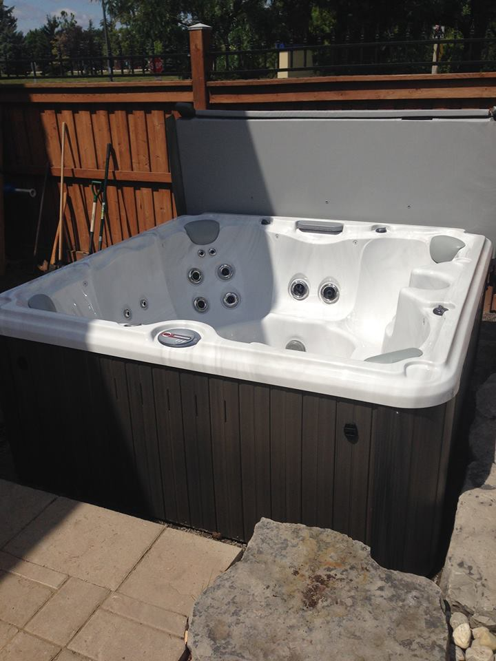Outdoor hot tub and spa installation 46