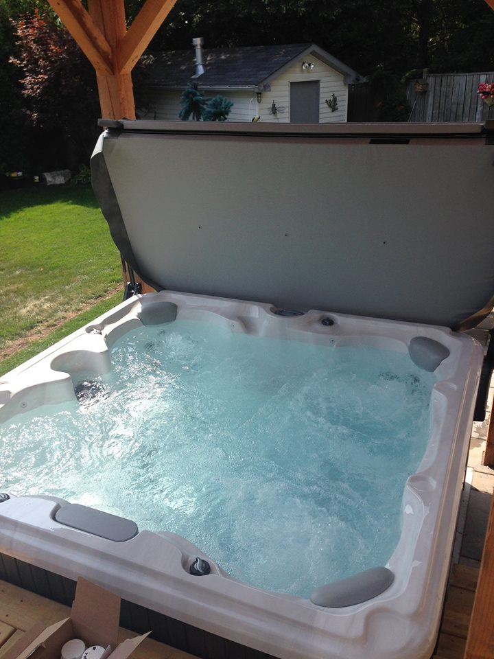 Country hot tub and spa installation 45