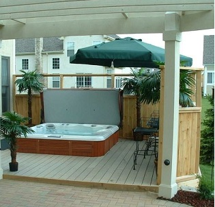 Burlington hot tub and spa installation 14