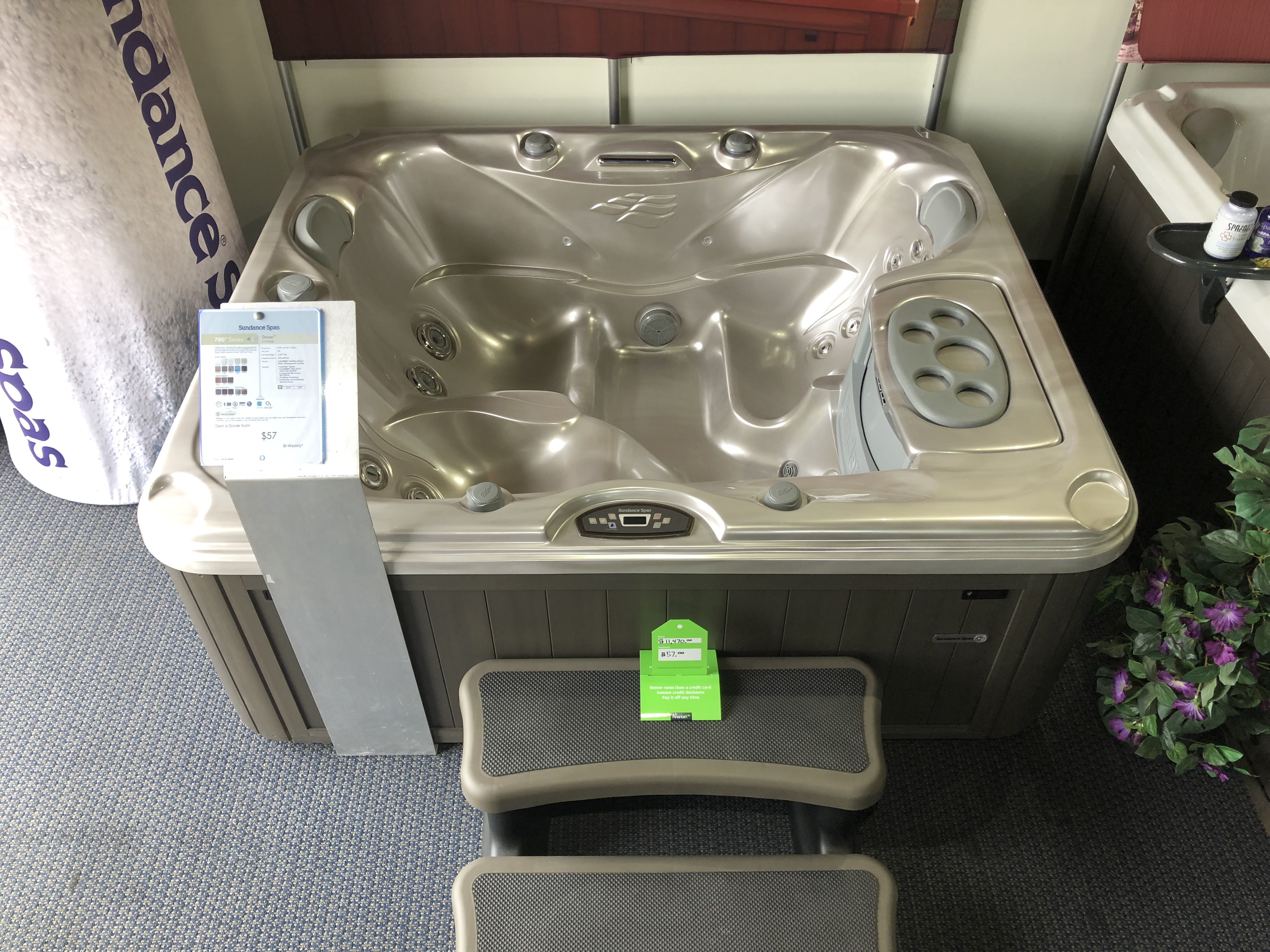 Sundance Spas 780 Series Dover 2 person plug and play hot tub hot tubs near me store Oakville Ontario