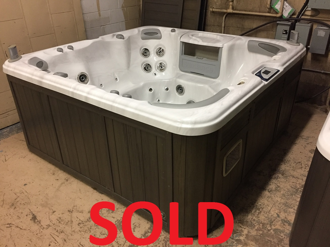 Sundance Spas 880 Series Optima hot tub spa jacuzzi hot tubs jacuzzis whirlpool preowned