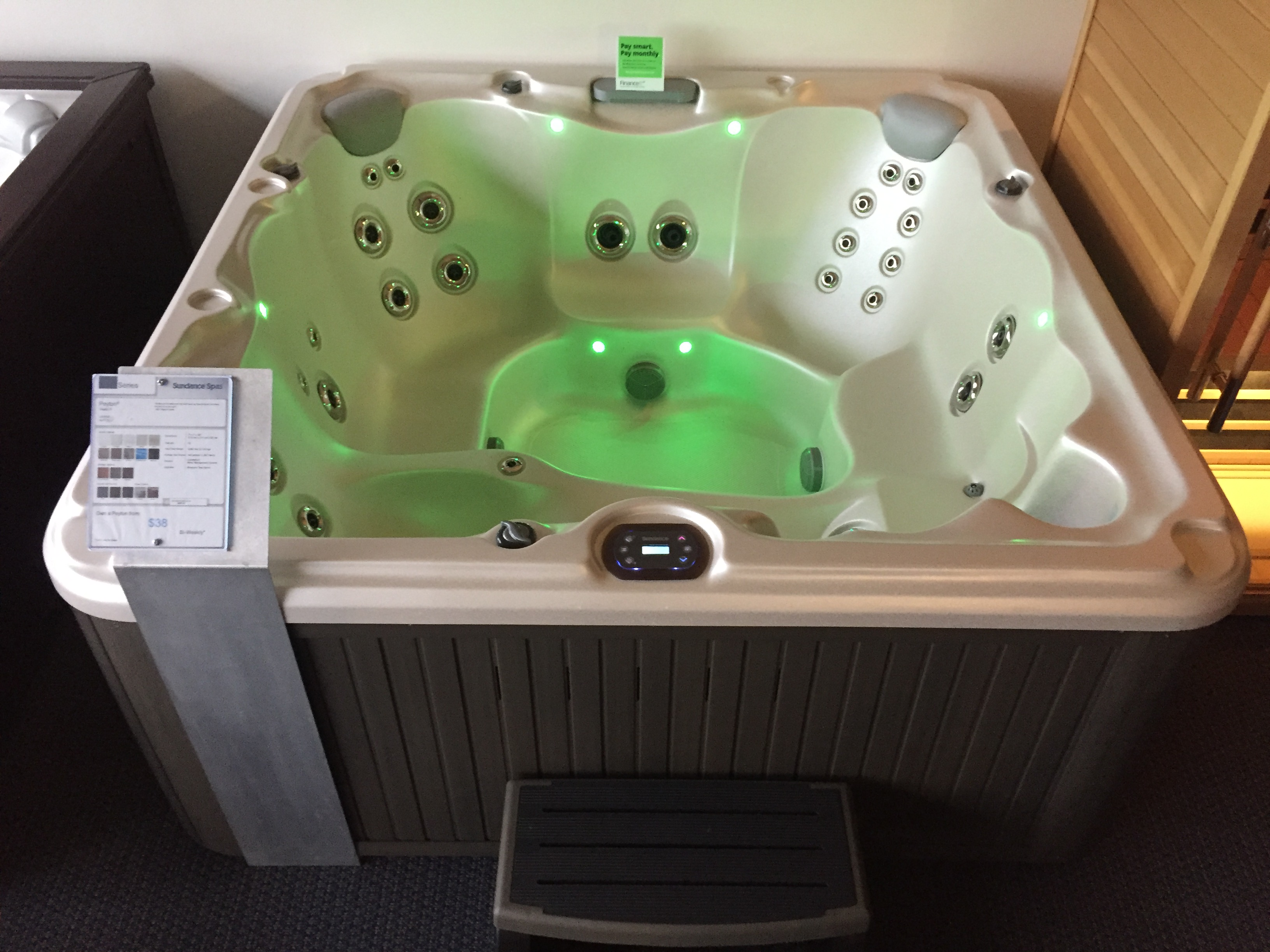 Sundance Spas Peyton model hot tub jacuzzi spa whirlpool hot tubs Niagara St Catharines Ontario specials discount special