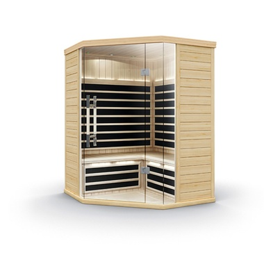 Image 1 for S870 1-2-Person Infrared Corner Sauna at The Sundance Spa Stores